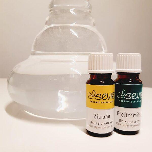 Zitrone Pfefferminze ätherisches Öl trinken