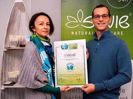 Sevie Green Brand Auszeichnung